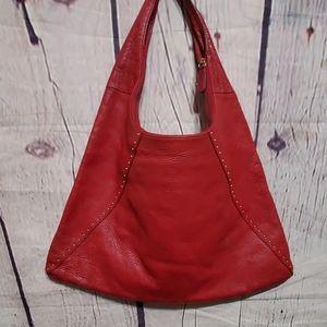 Sigrid Olsen Red Leather Purse Women Shoulder Bag
